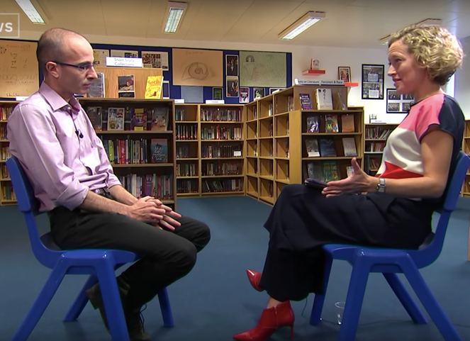 Yuval on Channel 4 News with Cathy Newman